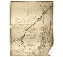 American Revolutionary War Era Maps 1750-1786 935 The provinces of New York and New Jersey with part of Pensilvania and the government's of Trois Rivières and Poster