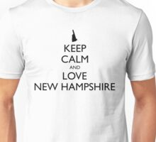 KEEP CALM and LOVE NEW HAMPSHIRE Unisex T-Shirt