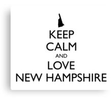 KEEP CALM and LOVE NEW HAMPSHIRE Canvas Print