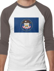 Utah state flag Men's Baseball ¾ T-Shirt