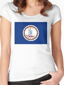Virginia state flag Women's Fitted Scoop T-Shirt