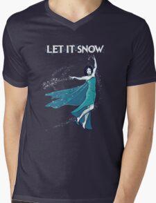 Let it Snow Mens V-Neck T-Shirt