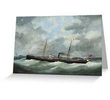 Edouard Adam - Steamship Bothal In A Heavy Swell  Greeting Card