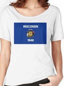 Wisconsin state flag Women's Relaxed Fit T-Shirt
