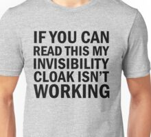 Harry Potter  - Invisibility Cloak Malfunction Unisex T-Shirt