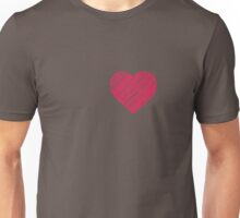 Sketchy Letter Series - Heart Shape [Red] Unisex T-Shirt
