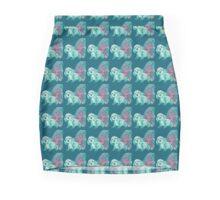 Half cute dog & half squirrel (turquoise+pink) Mini Skirt