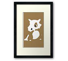 Cubone Minimal (Pokemon) Framed Print