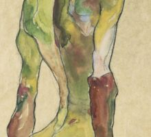 Egon Shiele - Male Nude In Profile Facing Right Sticker