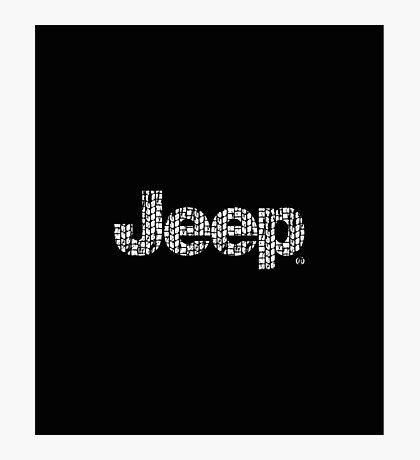 Jeep tires 2 white Photographic Print
