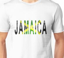 Jamaica Word With Flag Texture Unisex T-Shirt