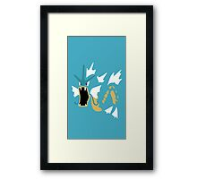 Gyradose Minimal (Pokemon) Framed Print