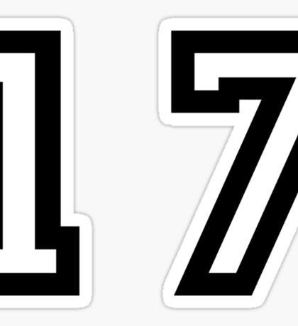 Number Seventeen Sticker