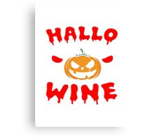 Wine Halloween Canvas Print