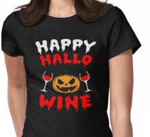 Wine Halloween Womens Fitted T-Shirt