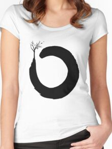 O Three Circle Women's Fitted Scoop T-Shirt