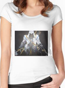 Assassin`s Creed original painting on canvas Women's Fitted Scoop T-Shirt