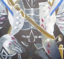 Assassin`s Creed original painting on canvas Sticker