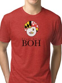 Edgar A. Boh with Maryland Flag Tri-blend T-Shirt