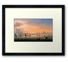 Fitz Henry Lane - Boston Harbor  Framed Print