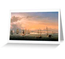 Fitz Henry Lane - Boston Harbor  Greeting Card