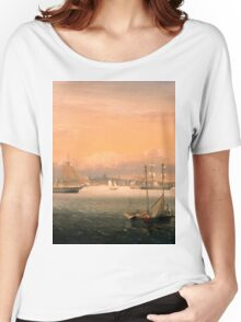 Fitz Henry Lane - Boston Harbor  Women's Relaxed Fit T-Shirt