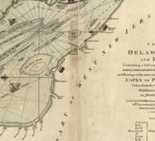 American Revolutionary War Era Maps 1750-1786 004 A chart of Delaware Bay and River containing a full and exact description of the shores creeks harbours Sticker