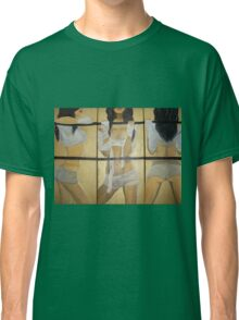 Boxing girl dangerous sexy hot original oil painting on 3 canvases  Classic T-Shirt