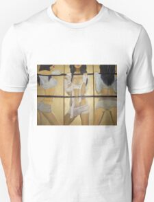 Boxing girl dangerous sexy hot original oil painting on 3 canvases  Unisex T-Shirt