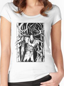 Leshen (Black) Women's Fitted Scoop T-Shirt