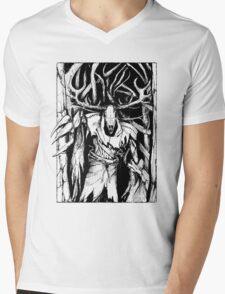 Leshen (Black) Mens V-Neck T-Shirt