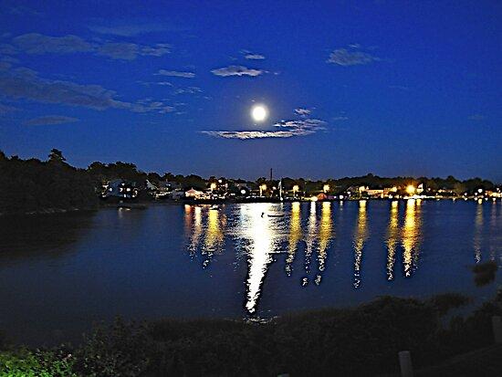 Moon Over Rhode Island by Nancy Richard