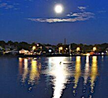 Moon Over Rhode Island Sticker