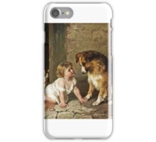 George Augustus Holmes - Playmates  iPhone Case/Skin