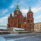 Uspenski Cathedral in Winter by Johannes Valkama