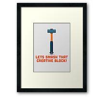 Character Building - Sledgehammer Framed Print