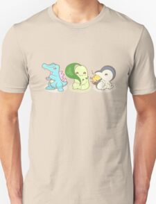 Johto Starter Pokemon Unisex T-Shirt