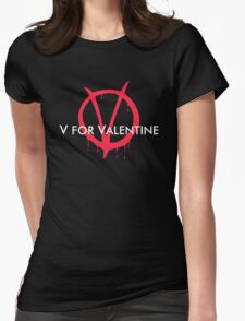 V for Valentine Womens Fitted T-Shirt
