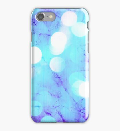Behind colors (light blue) iPhone Case/Skin