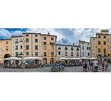 The Piazza of Lucca Italy Photographic Print
