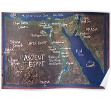 Map of Ancient Egypt Poster
