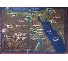Map of Ancient Egypt Photographic Print