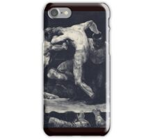 George Wesley Bellows - A Stag At Sharkeys iPhone Case/Skin