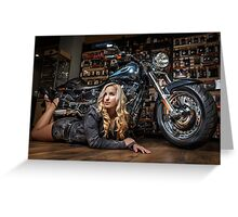 Biker Babe Greeting Card