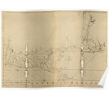 American Revolutionary War Era Maps 1750-1786 488 Chart of the Gulf Coast from Pensacola to Atchafalaya River Poster