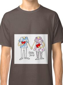 Cartoon couple Classic T-Shirt
