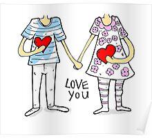 Cartoon couple Poster