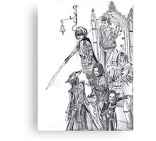 compilation of characters Canvas Print