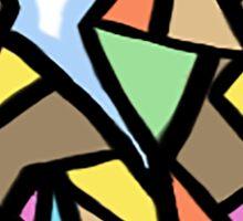 colorful origami squirrel Sticker
