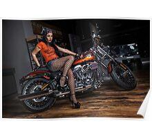 Biker Babe Poster